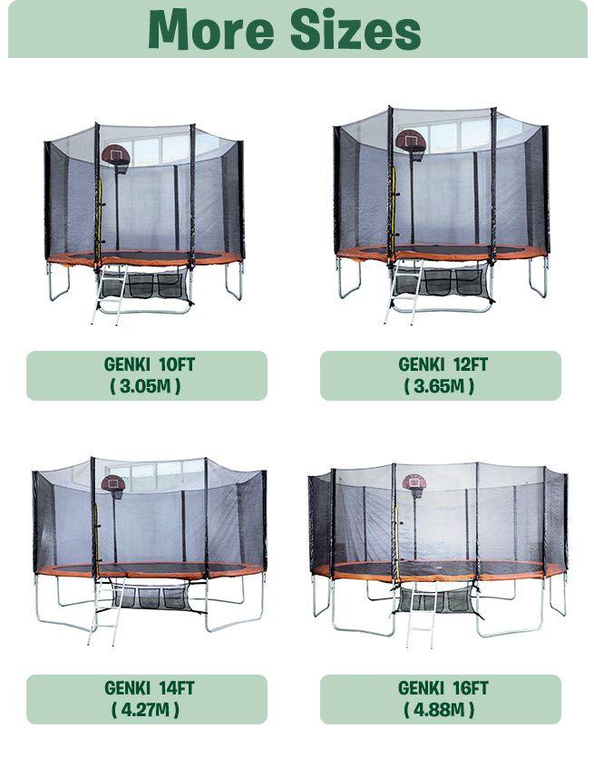 New Round Trampoline 14ft Free Basketball Set Ladder